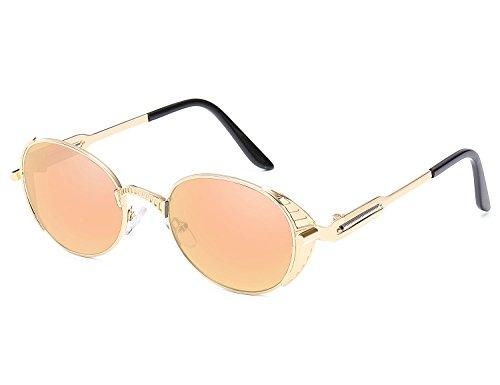 Rond UV lunettes Retro Bmeigo soleil Or métallique Steampunk Protection Lunettes de Cercle Unisex vXqwx6C