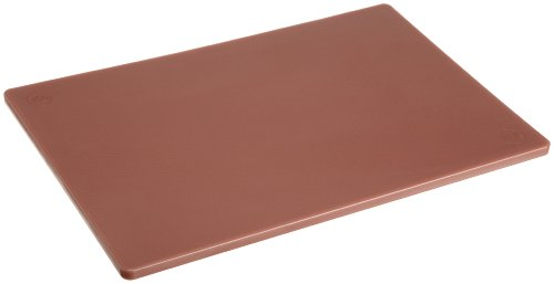 Plastic Cutting Board 12x18 1/2 Thick Brown, NSF Approved Commercial Use
