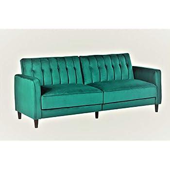 Amazon.com: Novogratz Vintage Tufted Sofa Sleeper II (Green ...