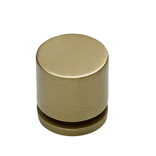 "10 Pack - Hamilton Bowes - 1"" - Round Cabinet Knob - 380-SB (Satin Brass) - Modern Gold/Brushed Brass/Natural"