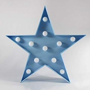 DON LETRA - Lámparas Decorativas de Estrellas Decoración Iluminación Lámpara de Mesa de Luz LED Decoración de Fiesta Lámpara de la Habitación de Niños ...