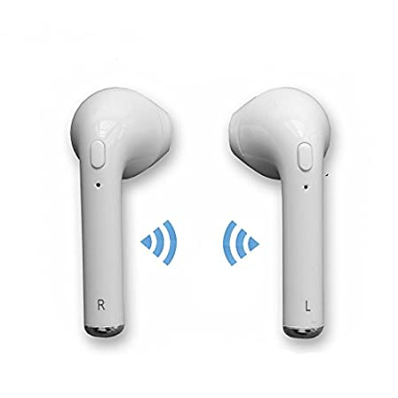 hangang auricular Bluetooth auriculares inalámbricos en oreja auricular para Apple Iphone 7/7 Plus/6S/6S Plus etc.: Amazon.es: Electrónica