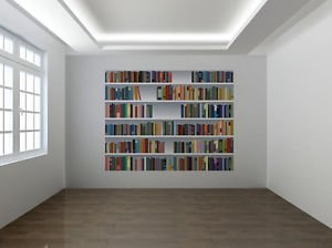 Fake Bookcase 3d Photo Wallpaper Wall Mural Library Room Xl
