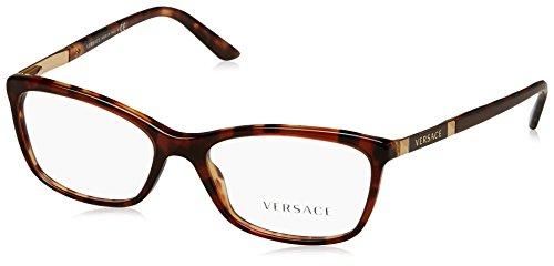 Versace VE3186 Eyeglass Frames 5077-52 - Amber Havana/havana VE3186-5077-52 by Versace