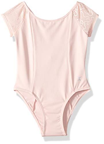 Danskin Girls' Little Short Sleeve Leotard, Petal Pink, Toddler (2-4)