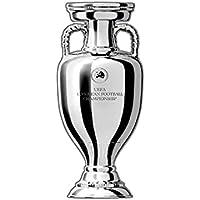 UEFA Euro 2020 Pin Badge Trophy, unisex volwassenen, grijs, 30 mm