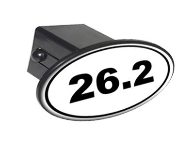 Graphics and More 26.2 Marathon Running Runner Euro Oval Tow Trailer Hitch Cover Plug Insert 2