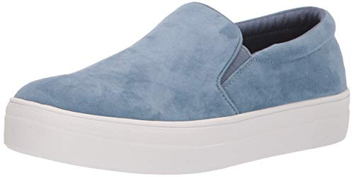 Steve Madden Women's Gills Sneaker, Dusty Blue, 8.5 M US