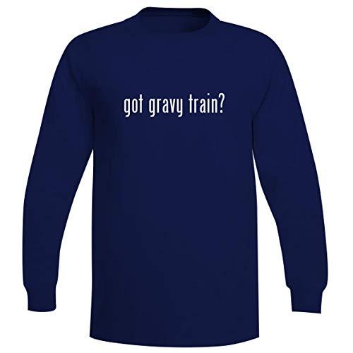 - The Town Butler got Gravy Train? - A Soft & Comfortable Men's Long Sleeve T-Shirt, Blue, Small