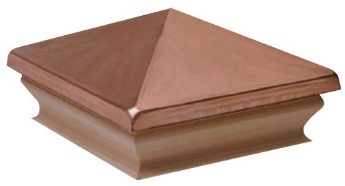 Woodway Products 870.1388 4-by-4-Inch Small Pyramid Post Cap, 12-Pack, Cedar