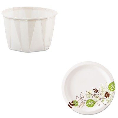KITDXEUX7PATHSLO200 - Value Kit - Dixie Pathways Mediumweight Paper Plates (DXEUX7PATH) and Solo Paper Portion Cups (SLO200)