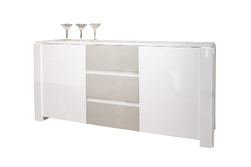 Sharelle Furnishings WG Natalia White Lacquer Buffet (Buffet White Lacquer Sideboard)