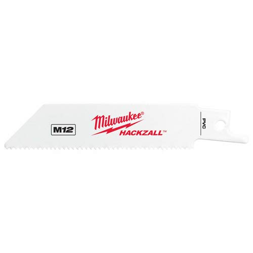 Milwaukee 49-00-5414 M12 Hackzall Blade 4'' PVC 5-Pack
