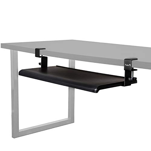 (Futur3 Extra Wide Clamp On Keyboard Tray Under Desk - 5 Min Easy Installation - No Screws into Desk - Keyboard and Mouse Sliding Drawer- Perfect for Office or Home - Ergonomic and Comfortable Design)