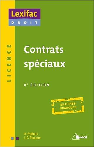 Livres Contrats spéciaux pdf