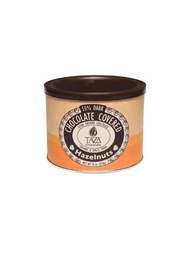 Taza Chocolate | Chocolate Covered Hazelnuts | 55% Dark Chocolate | Certified Organic | Non-GMO | 8 Ounce (Pack of 1)