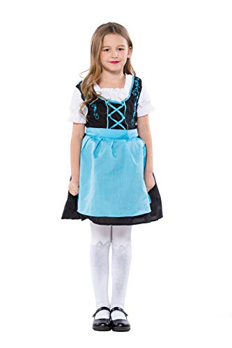 German Bavarian Oktoberfest Children Girls Maid Cosplay Halloween Costumes (X-Large)