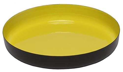 Melange Home Decor Modern Collection, 12-inch Round Platter, Color - Lime Green