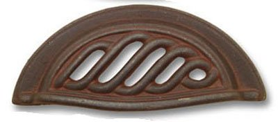 Ctr Cup Pull - Belwith PA1322-RI 3 Inch Ctr Cup Pull Rustic Iron Knob