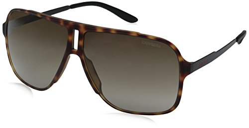 Carrera Men's Ca122s Rectangular Sunglasses, Havana Black/Brown Gradient, 61 - Brown Sunglasses Havana Carrera Mens