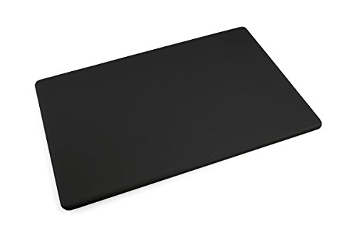 Commercial Plastic Black Cutting Board, NSF, 18 x 12 x 0.5 inches ()
