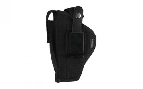 Deluxe Nylon Flashlight Holster (Bulldog Cases Belt and Clip Ambi Holster (Fits Most Compact Auto's with 2 1/2-Inch - 3 3/4-Inch Barrels with Laser Or Tac Light)