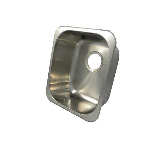 Opella 13203.046 Universal Mount Single Bowl Kitchen Sink, 16 x 14 by Opella