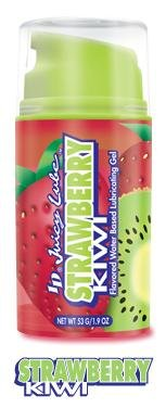 ID Juicy Lube Fresh Strawberry Kiwi Flavored 3.8 oz Water Based Lubricating (Flavored Lubricating Gel)