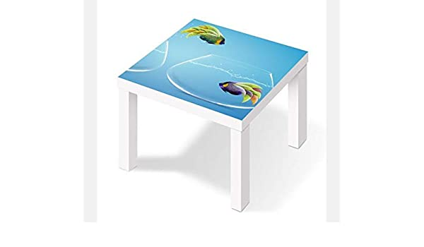 Möbelaufkleber para Ikea Lack Mesa 55x55cm Peces Peces Mudanza Agua Acuario Etiqueta Folio Muebles Lámina Posterior (sin Mueble) 25w2954: Amazon.es: Hogar