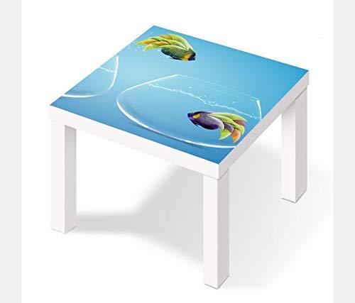 Möbelaufkleber para Ikea Lack Mesa 55x55cm Peces Peces Mudanza ...