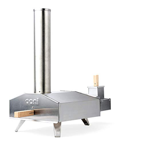 Ooni 3 Portable Wood Pellet Pizza Oven, Stainless Steel