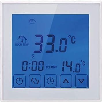 14m2 Wei/ßer Touchscreen-Thermostat Elektrischer Fu/ßbode Heizset Fu/ßbodenheizung 200w Nassboards Premium Pro