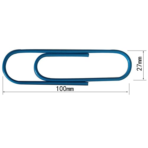 Umsole 4 Inch Large Colored Paper Clips Jumbo Metal Paper Clips 6 Color 24 Pieces - B06W9PFM2C