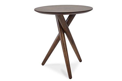 Tri-legged Round End Table in Malaysian Oak