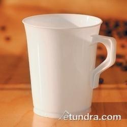 EMI Yoshi EMI-PPCM8 500 Reusable 8 oz Polypropylene White Coffee Mug Plastic coffee mugs Travel coffee Mugs Tea Espresso cups