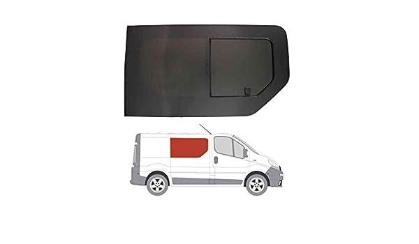 Mano derecha, tintado oscuro apertura ventana para Opel Vivaro (02 – 14) Panel lateral puerta corredera contrario: Amazon.es: Coche y moto