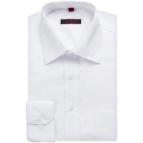 Art Hoffman Men's CR-1 Regular Fit 100% CottonDress Shirt - White - 18.5 4-5