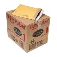 * Jiffy Padded Self-Seal Mailer, #1, 7 1/4 x 12, Golden Brown, 100/Carton