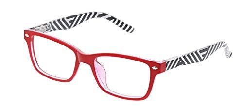 (Peepers Women's Zuma 2565275 Rectangular Reading Glasses, Red & Stripe, 2.75)