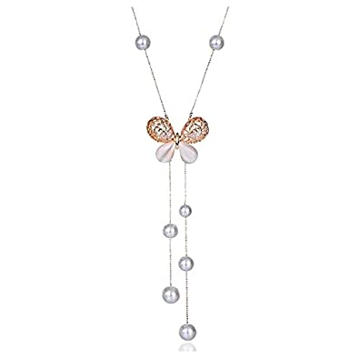 Buy navya collection jewelry stylish pendants for girls with long navya collection jewelry stylish pendants for girls with long chain butterfly pendent party western wear necklace mozeypictures Image collections