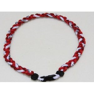 Titanium Tornado Baseball/Softball Necklace Red/White 20
