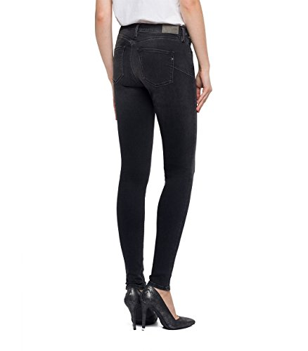 Nero Black Zackie REPLAY Donna 7 Denim Straight Jeans ICXIqPw4