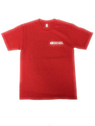 USPS New Post Office RED T-Shirt Postal Logo ON Front & Back