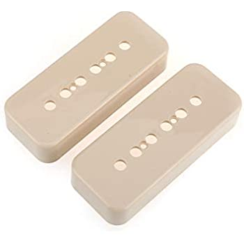 Musiclily Pro Plastic P-90 Soapbar Guitar Pickup Covers for USA Gibson Black Set of 2