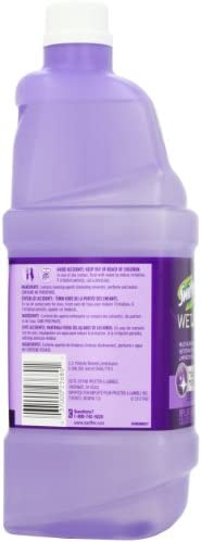 Swiffer WetJet Multi-Purpose Floor Cleaner Solution with Febreze Refill, Lavender Scent, 2 Pack of 42.2 fl ounces Each