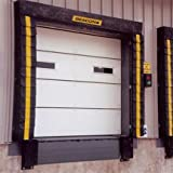 Dock Door Seal with Fixed Head Pad - B100-8x9 Series; Door Opening (Wide x High) Size: 8' x 9'; Door Seal Projection: 10''; Material Type: Neoprene-coated Nylon; Material Thickness: 40oz