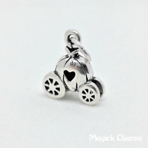 925 Sterling Silver 3-D Cinderella Pumpkin Carriage Charm Pendant Jewelry Making Supply, Pendant, Charms, Bracelet, DIY Crafting by Wholesale Charms