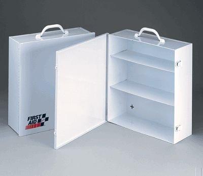 3 Shelf industrial cabinet- empty metal case w/ swing out door- 13-7/16 in. x16 in. x5-1/2 in. - 1 ea.
