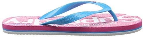 Superdry Scuba Marl - Sandalias de dedo Mujer Multicolore (Fluro Pink Grit/Fluro Blue/Fluro Pink)
