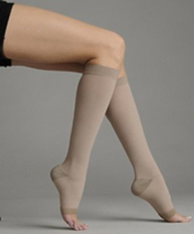 Juzo 2062AD IV IV Silver Soft Open Toe Knee High Regular 30-40 mmHg Compression Stockings